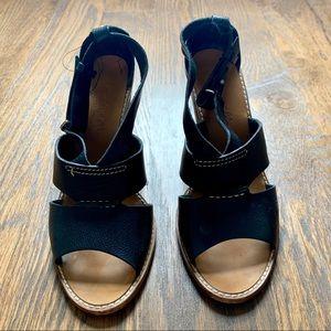 Madewell black block heel sandals